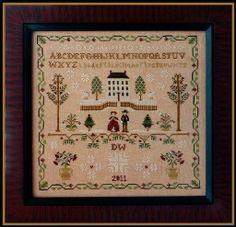 LITTLE HOUSE NEEDLEWORKS - New England Winter Sampler - LE COMPTOIR DES FEES