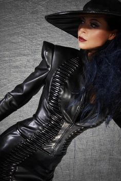 Unique and erotic leather outfit