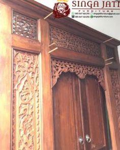 pintu gebyok Jawa klasik ukiran model minimalis modern Door Design, Armoire, Doors, Modern, Furniture, Home Decor, Clothes Stand, Trendy Tree, Decoration Home