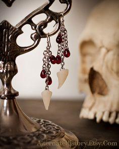 Vampire Fang Earrings - Inspired by True Blood $16.00