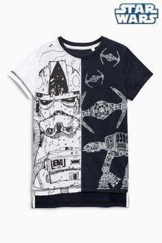 Buy Black/White Star Wars™ T-Shirt (3-14yrs) online today at Next: United States of America