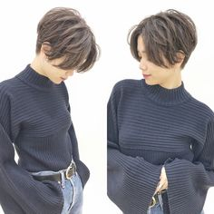 Girls Short Haircuts, Cute Hairstyles For Short Hair, New Haircuts, Short Hair Cuts For Women, Asian Short Hair, Girl Short Hair, Tomboy Hairstyles, Pixie Hairstyles, Pelo Ulzzang