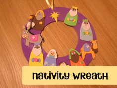 A Nativity Wreath to craft with your preschoolers as you talk through the Nativity Story