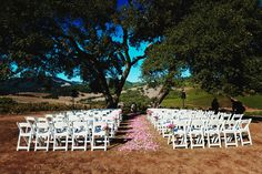 Why we pinned it: Example of Kunde Boothill (where we're getting married). We like the wedding aisle sprinkled with petals, if it's not too expensive.