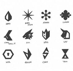EXO new logo logo/emblem Kpop Exo, Exo K, Exo Chanyeol, Exo Ot12, Kyungsoo, Chanbaek, Steven Universe, Exo Sign, Exo News