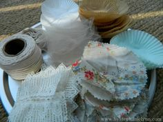 Under The Table and Dreaming: Cupcake Liner Baking Cup Garland
