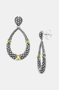 Lagos 'X' Open Drop Earrings by irma
