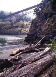 Whidbey Island, Washington   Canoe Pass and Deception Pass Bridges