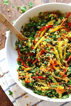 Chopped Thai Salad with Sesame Garlic Dressing #chopped #salad #thai