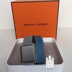 พรอมสง Hermes Apple Watch double tour in blue jean 59000 by armmy_kbrandname