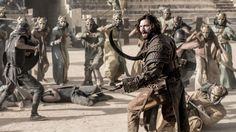 """5.09 """"The Dance of Dragons"""" - Daario fights with the Sons of the Harpy."""