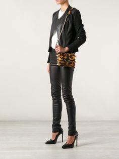 Ventidue 'Giuletta' leopard baguette shoulder bag