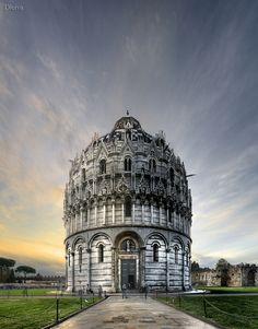 Italy, Pisa, Baptistery of Cathedral Pisa Tuscany