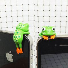25OFF Cute Colorful Yellow Green Tree Frog Dust Plug by MilanDIY