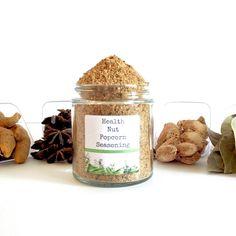 Health Nut Gourmet Popcorn Seasoning Mix Homemade Handmade Cooking Spice Herb Foodie Snack Gift by ALLSPICEEMPORIUM on Etsy