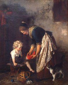 Rudolf Epp   Mutter beim Ankleiden des Kindes