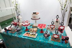 Japanese inspired dessert table