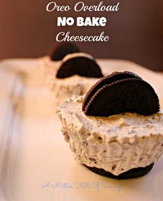 Oreo Overload No Bake Cheesecake -http://www.amittenfullofsavings.com/oreo-overload-no-bake-cheesecake/