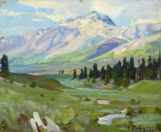 CARL RUNGIUS (1869-1959)  Canadian Backcountry, oil on canvas laid on board, 9 × 11 inches