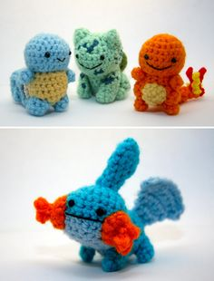 crochet pokemon - free patterns http://www.chemknits.com/2013/06/a-search-for-free-pokemon-crochet.html
