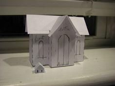 """Two houses I made...one teeny tiny 1/2""""  house and a 3"""" house."""
