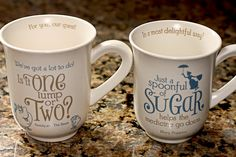 Disney sugar cups