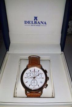 DELBANA CHRONOGRAPH REF. 967.472L, men s, vintage, for collectors, NEW IN BOX