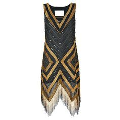 Giselle Flapper Dress Channel The Great Gatsby with this elegant Art Deco number. Complete the look with t-strap heels and a statement headband. Ready, set, shimmy...