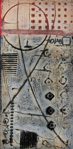 """Driving Force ii 4-10 by Anne Moore - Monotypes, 20"""" x 10"""" block, Collagraph print #art #printing"""