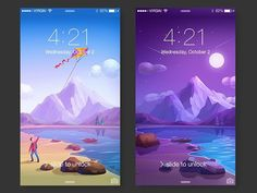 iOS Wallpapers by Dribbble User Zaib Ali  #PixelPerfectDesign if you want to be…