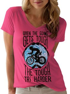 """New """"Tri Harder"""" tee design from Cycology. When the going gets tough, the tough Tri Harder. A pencil graphic on brown paper that depicts the determination needed to compete in this gruelling sport. #triathlon t-shirts"""