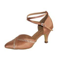 Frauen Satin Heels Absatzschuhe Moderne mit Knöchelriemen Tanzschuhe