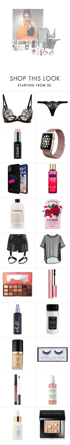"""• [ Jacie ] •"" by stx-anons ❤ liked on Polyvore featuring La Perla, L'Oréal Paris, Kendall + Kylie, Victoria's Secret, philosophy, TONYMOLY, Liquor n Poker, Taylor, Too Faced Cosmetics and Urban Decay"