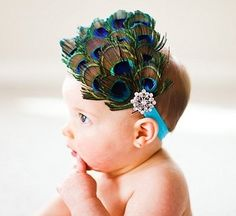 I wanna have a peacock theme wedding & could use mine for the new baby! So cute!