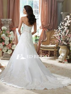 Sexy Sweetheart Charming A-line Alibaba Lace Wedding Dresses 2014