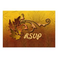 This DealsAutumn Leaves Fall Wedding RSVP AnnouncementThis site is will advise you where to buy