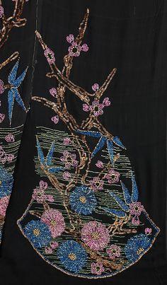Textile piece  Textile attributed Sarah Lipska  (Polish, 1882–1973), Silk, Metal, 1920-29