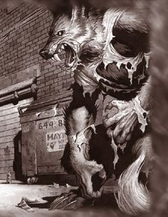 My favorite drawing from Werewolf: the Forsaken. I will forever love that game, because of the werewolf theme of duality. They embrace harmony and rage, belief and disrespect, religion and atheism. They are profound, yet so shallow.