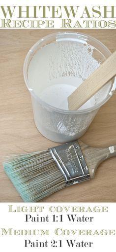 How To Whitewash Wood Furniture Whitewash Recipe Ratios + Turorial. Chalk Paint Furniture, Furniture Projects, Furniture Makeover, Diy Furniture, Furniture Stores, Furniture Design, Bedroom Furniture, Whitewashing Furniture, Handmade Furniture