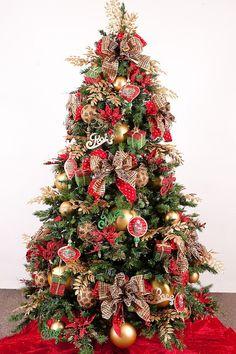 Unique Christmas Tree Themes | Tags: christmas idea , Christmas Tree , home decor , traditional