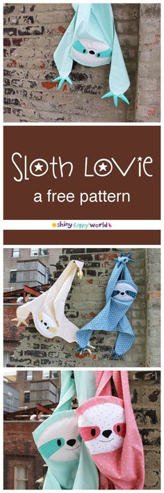 Sloth Lovie. Cutest little sloth ever! A fun free sewing pattern that would make the perfect gift for any sloth or animal lover!