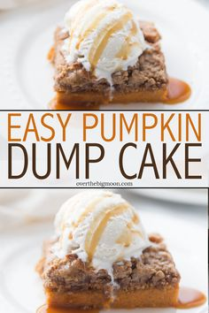This Easy Pumpkin Dump Cake is the perfect Fall treat! The flavor and texture is perfection and my kids can't get enough of this Gooey Pumpkin Cake! Semi Homemade Cake Recipe, Homemade Cakes, Cupcakes, Cupcake Cakes, Fun Desserts, Delicious Desserts, Yummy Food, Cupcake Recipes, Dessert Recipes