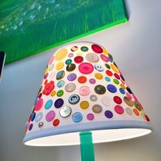 Button Wind Chime: bursting with the colors of the rainbow!