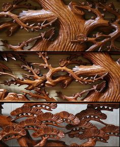 Japanese Ranma Wood Carved 1900
