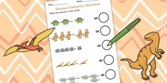 Dinosaur Themed Subtraction Sheet - subtract, take away, numeracy
