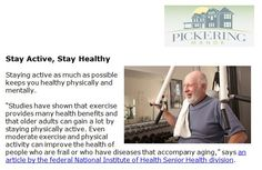 http://pickeringmanor.org/stay-active-stay-healthy - Staying active as much as possible keeps you healthy physically and mentally. At Pickering Manor, we believe in helping you get as much from life as you want and as much as you can.