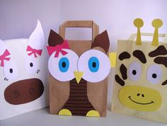 super cool gift bags, easy to make