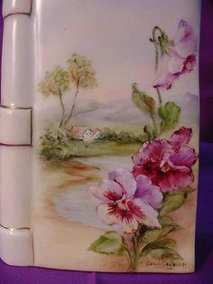 Stunning Limoges Book Decanter...Hd. Pdt. Landscape Scene