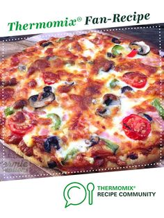 Recipe Never Fail Best Ever Pizza Dough - Kermie Kreations by Kermie Kreations, learn to make this recipe easily in your kitchen machine and discover other Thermomix recipes in Basics. Pizza Recipes, Meat Recipes, Dough Recipe, Recipe Community, Dinner Rolls, Pizza Dough, Main Meals