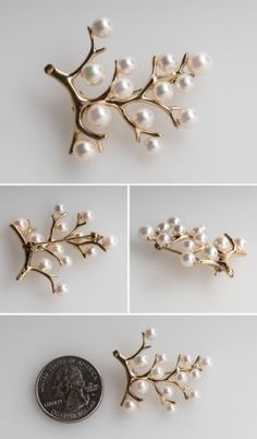 Mikimoto-Cultured-Pearl-Brooch-Pin-Tree-Motif-Solid-14K-Gold-Fine-Estate-Jewelry